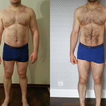 Mój podopieczny Łukasz. 6 miesięcy współpracy -18kg i aż 18cm różnicy w obwodzie pasa. Wielkie gratulacje za ciężko wykonaną pracę ! A to jeszcze nie koniec, bo będzie dalszy progres!