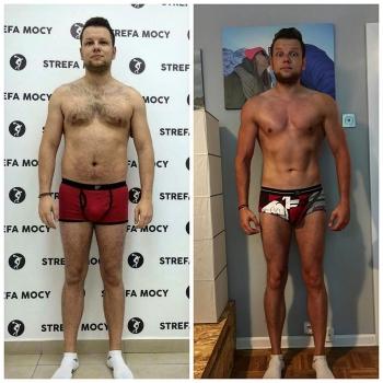 Mój podopieczny Kamil😊💪 który ciężka praca zrzucił 15kg i aż 18 cm w pasie😱😱😱 Jeżeli chcesz zmienić swoją sylwetkę na stałe, nie ma drogi na skróty. Dieta musi być przyjemna i możliwa do utrzymania w dłuższym czasie, tak abyśmy mogli osiągnąć zamierzony cel. Gratulujemy, nie hejtujemy😊✌