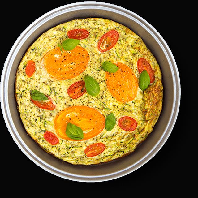 pieczony omlet z cukinią