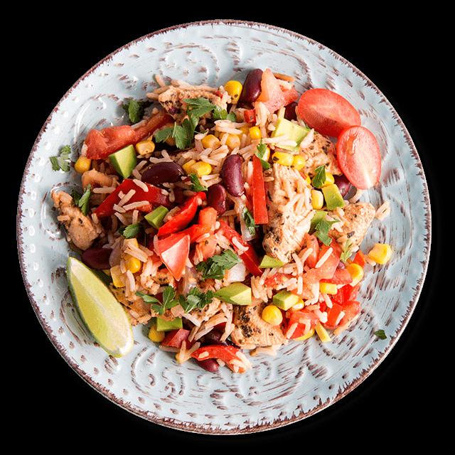 ryż z kurczakiem z warzywami po meksykańsku