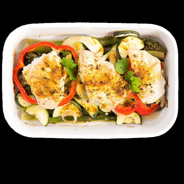 pieczony indyk z warzywami