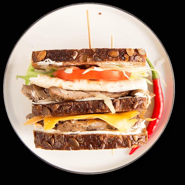sandwich ze schabem