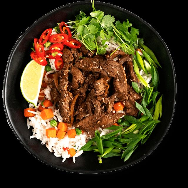 pyszna wołowina z ryżem