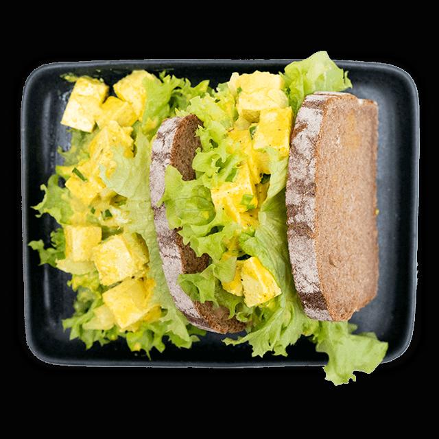 """kanapki z pastą """"jajeczną"""" z tofu"""
