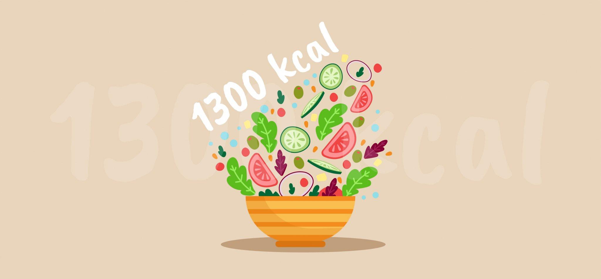 Dieta 1300 kcal – zasady, jadłospis, efekty