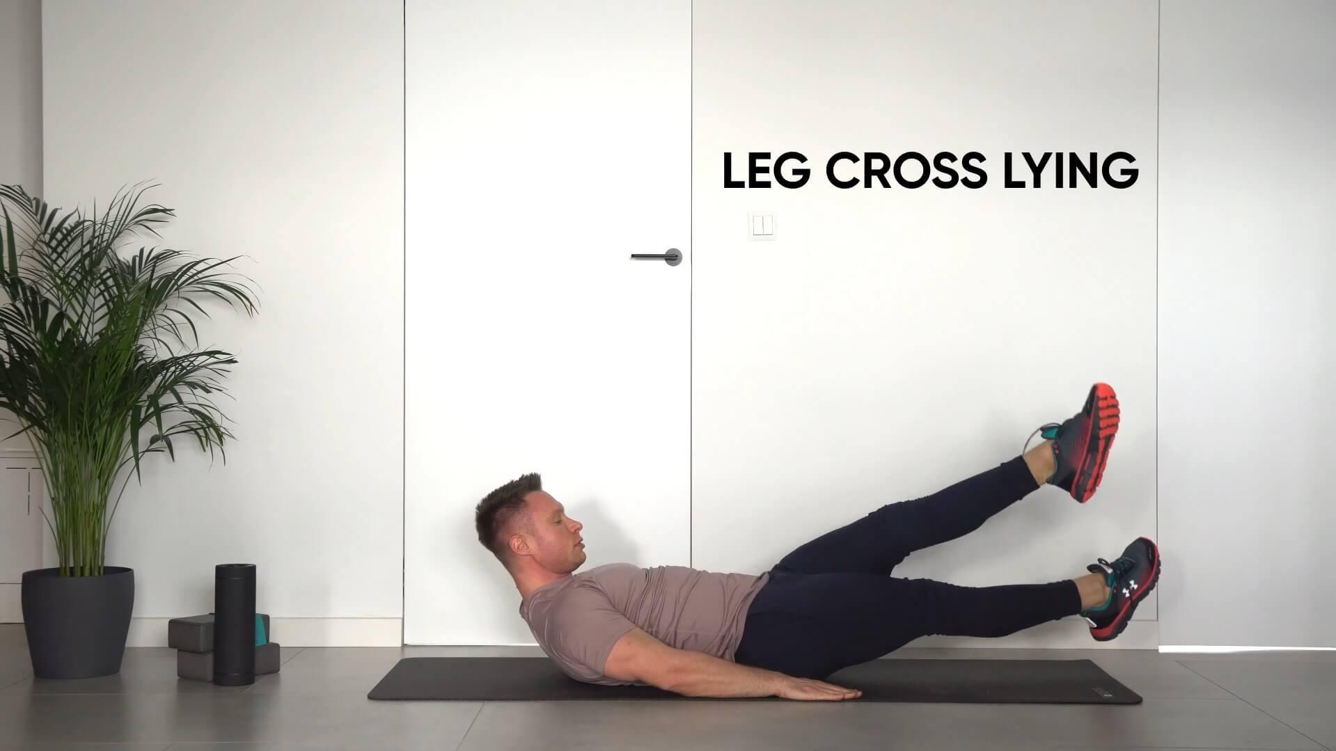 Leg cross lying