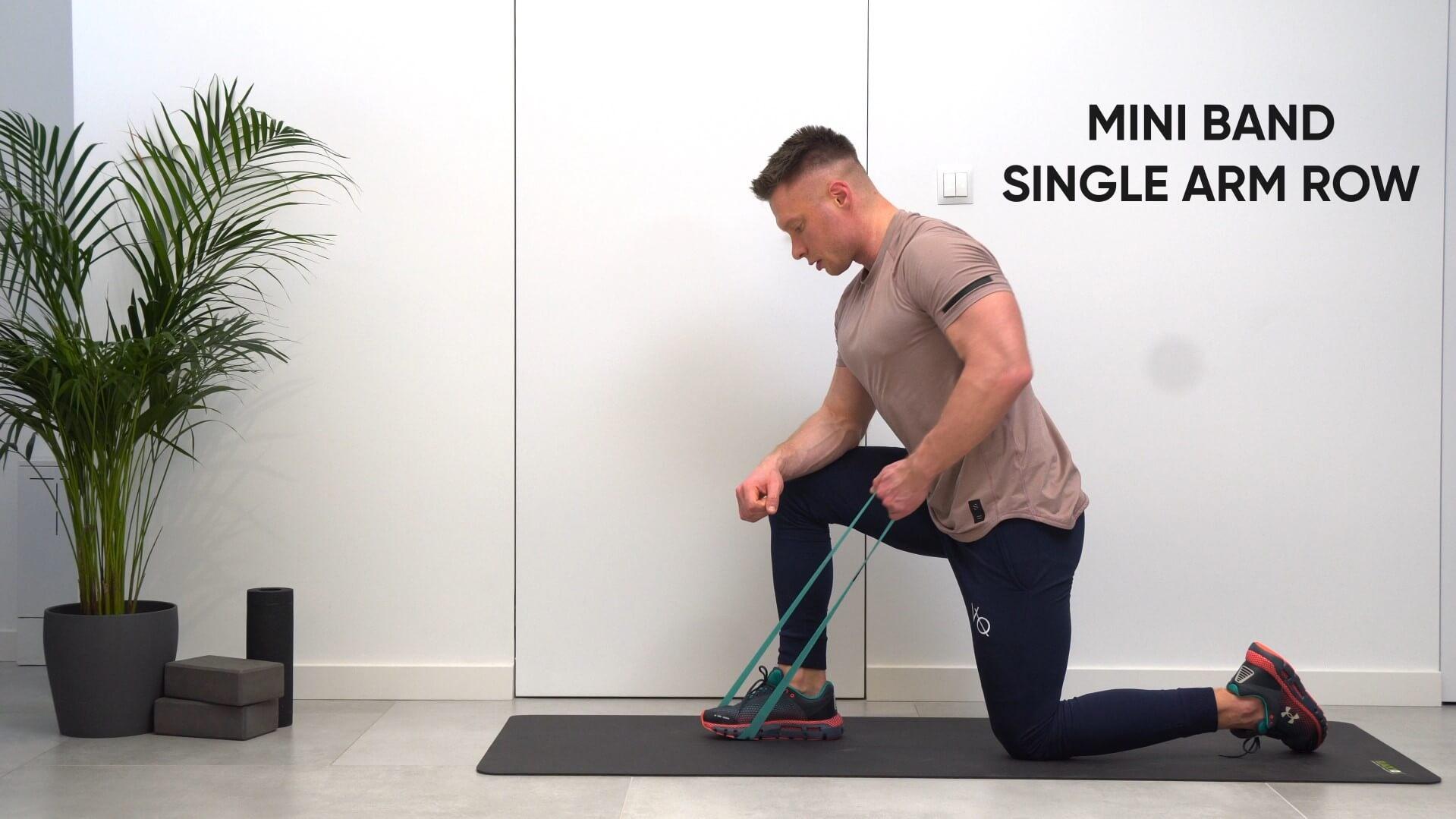 Mini band single arm row