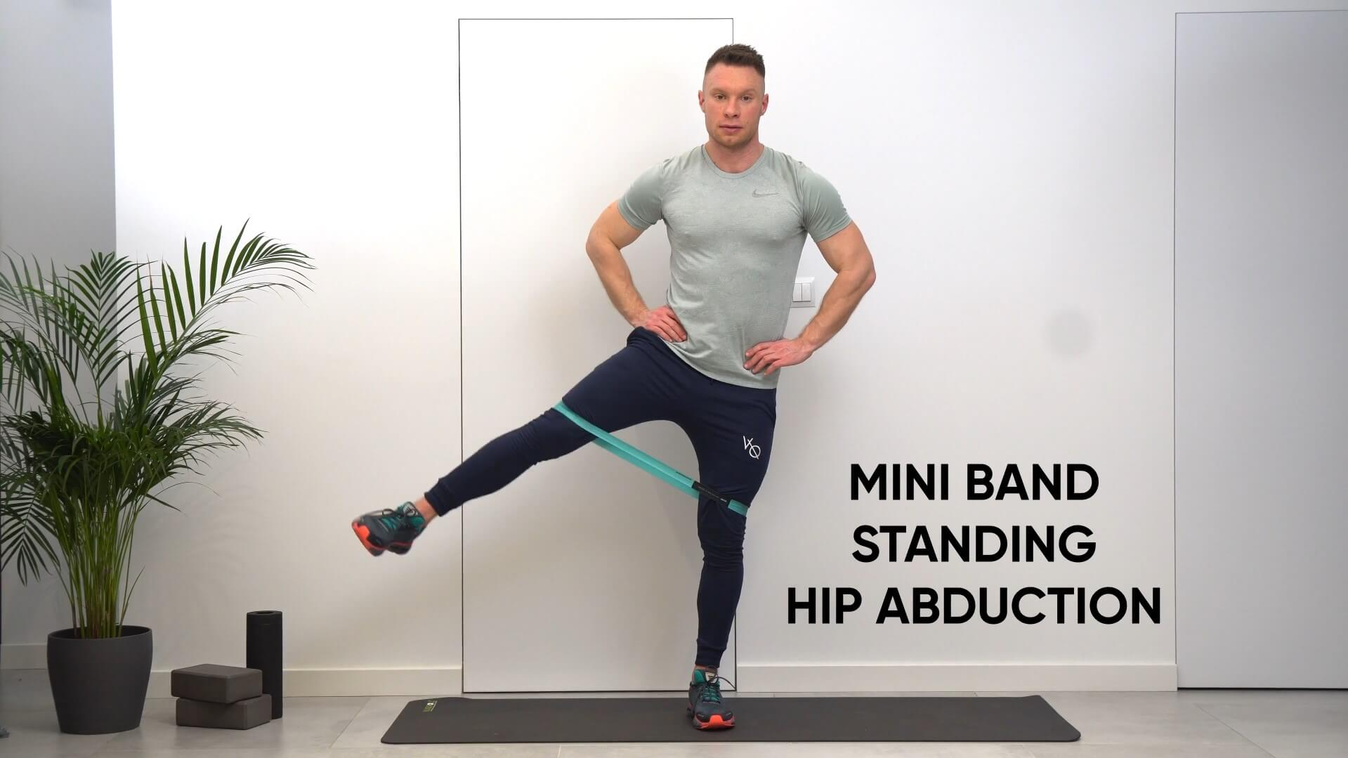 Mini band standing hip abduction