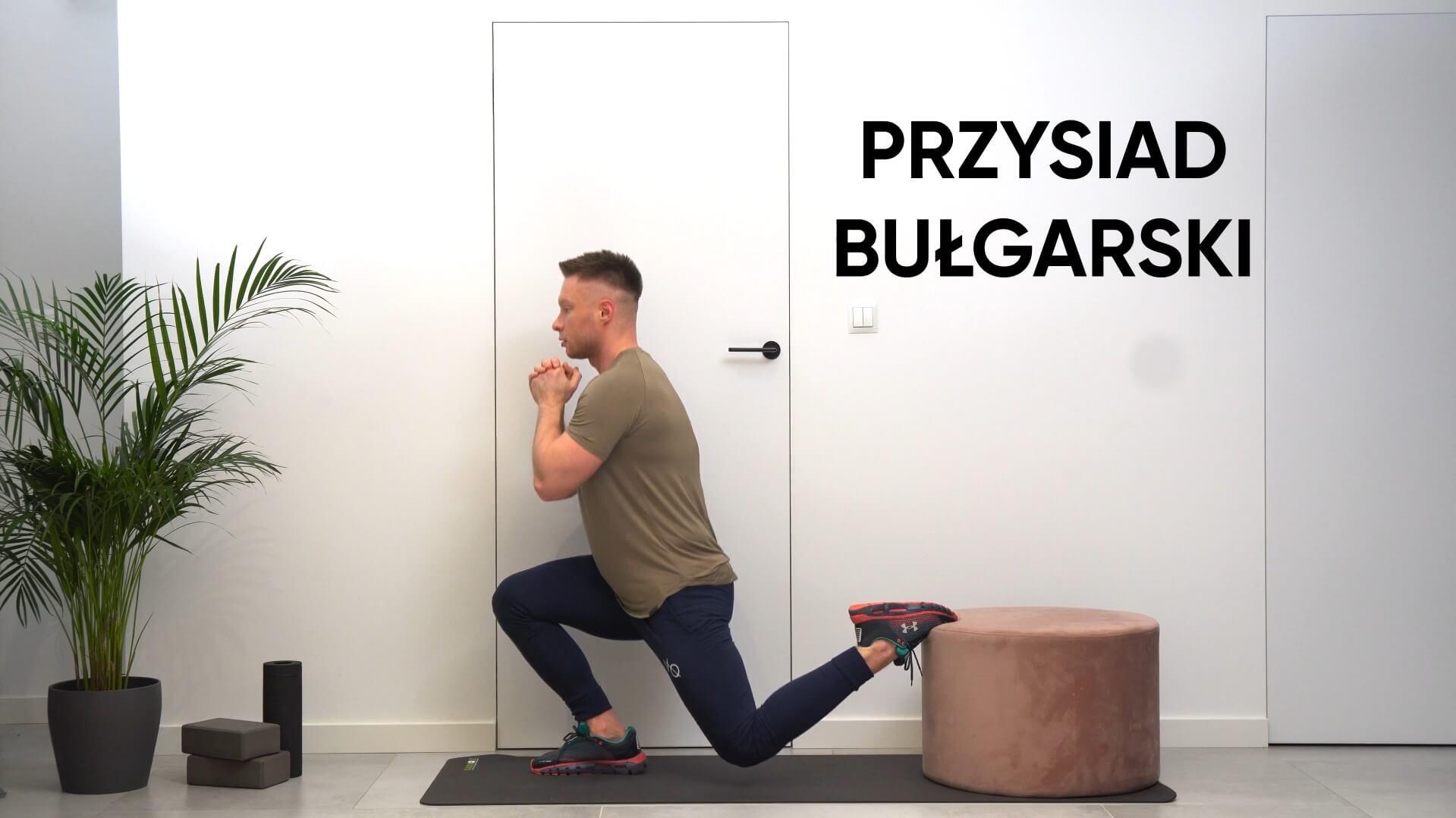 Przysiad bułgarski w domu