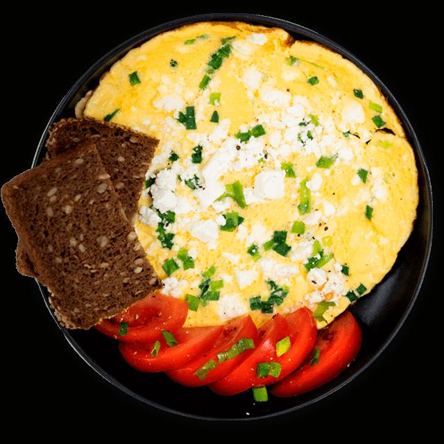 omlet z pieczywem