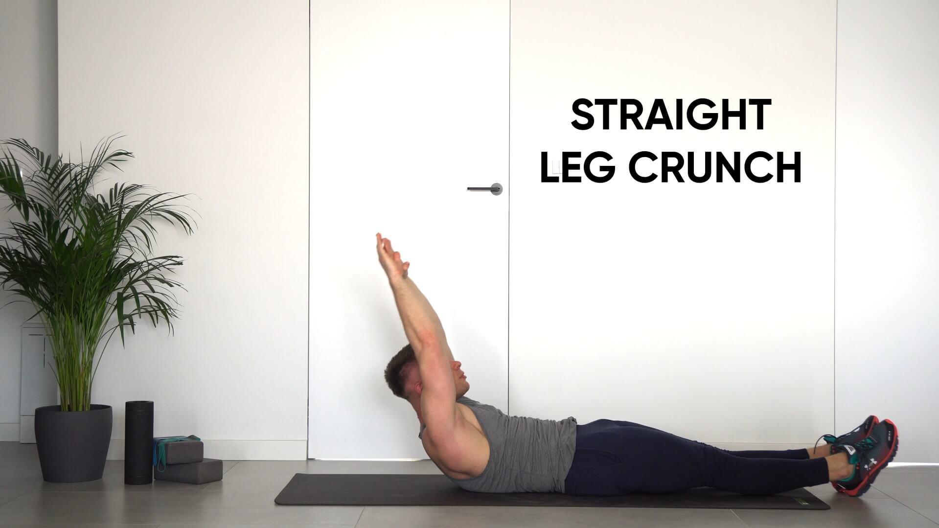 Straight leg crunch