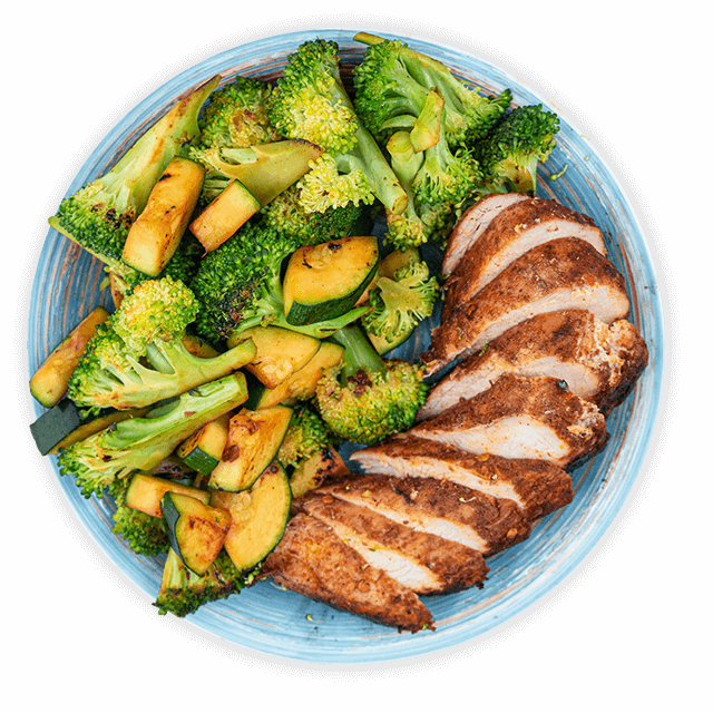 kurczak z brokułem i cukinią