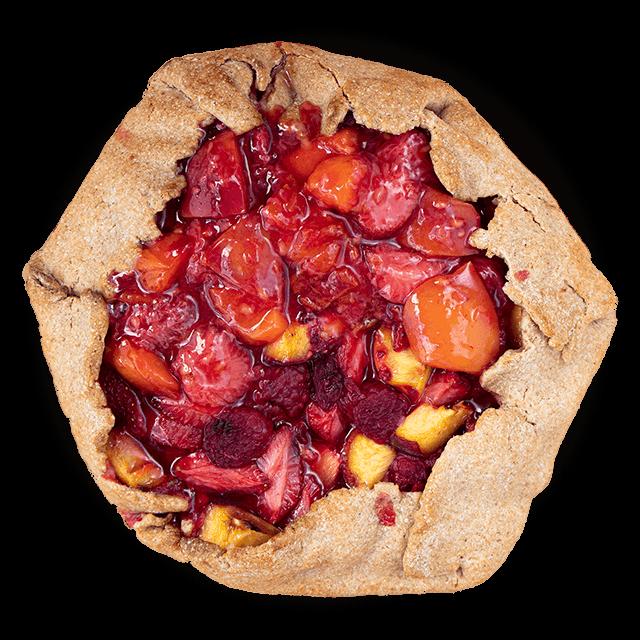 tarta z owocami sezonowymi