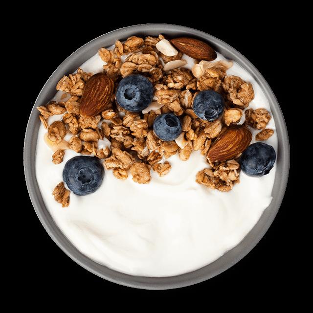 jogurt z borówkami i orzechami