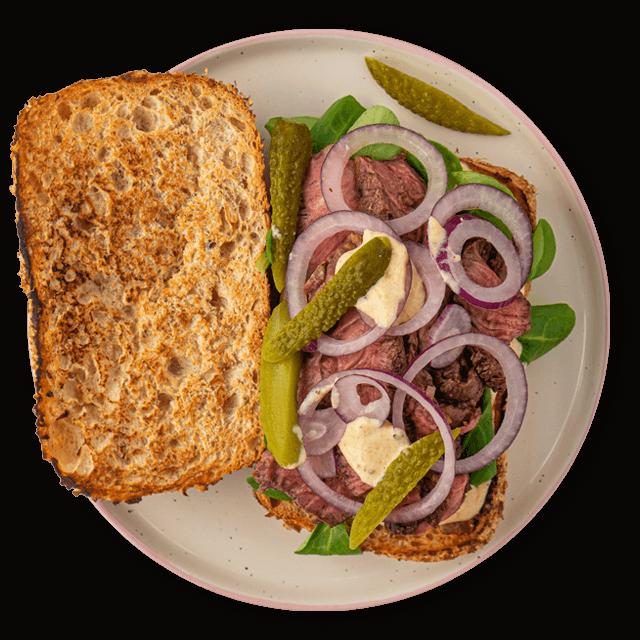 kanapka z rostbefem