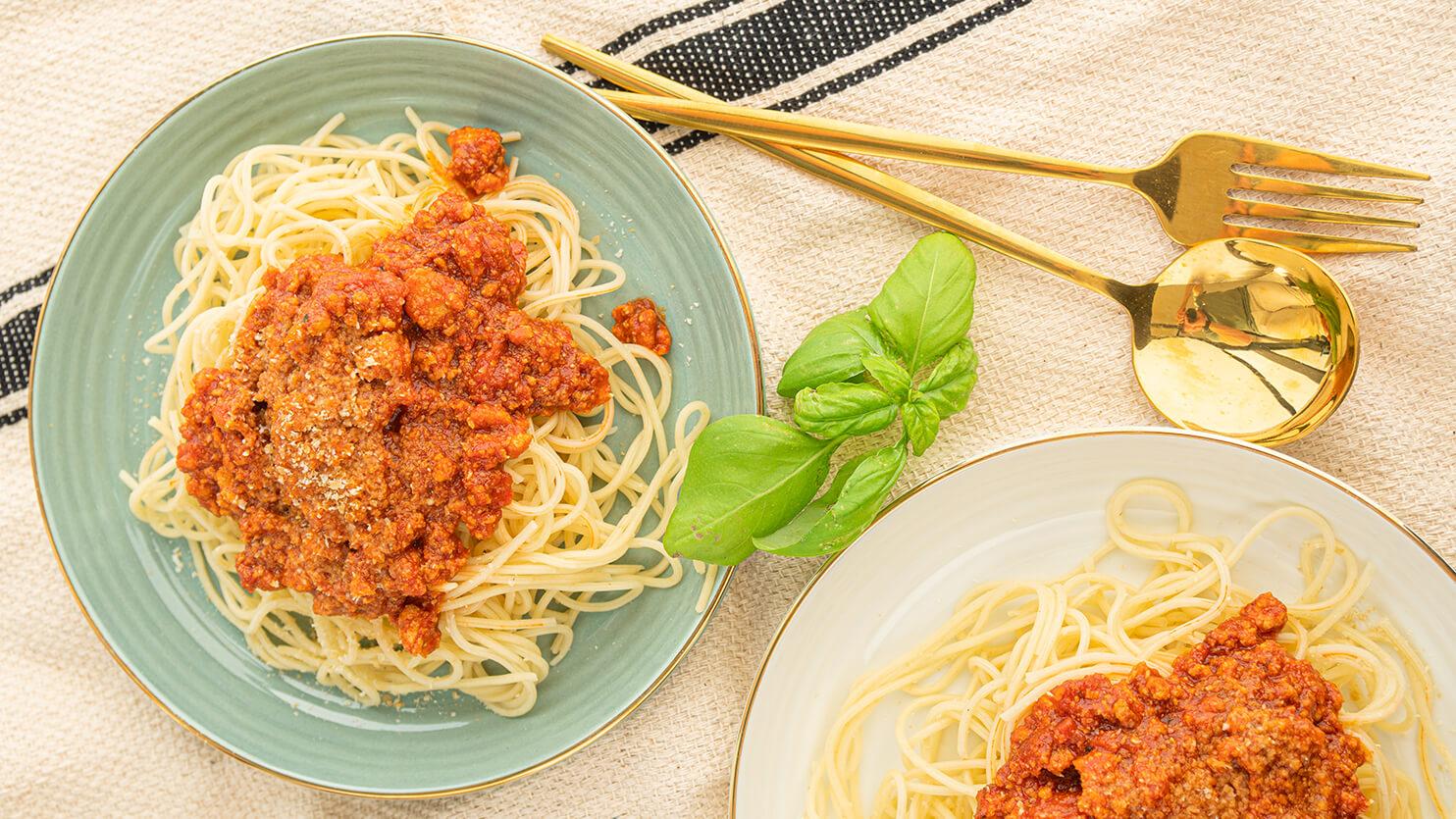 Vege spaghetti bolognese