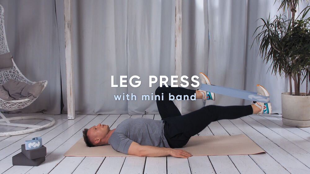 Leg press with mini band