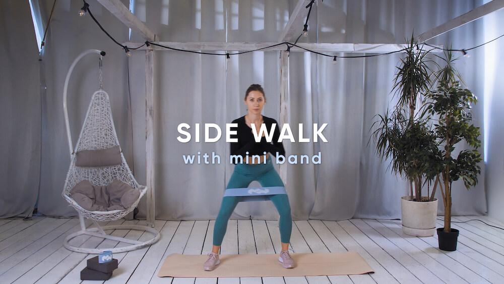 Side walk with mini band