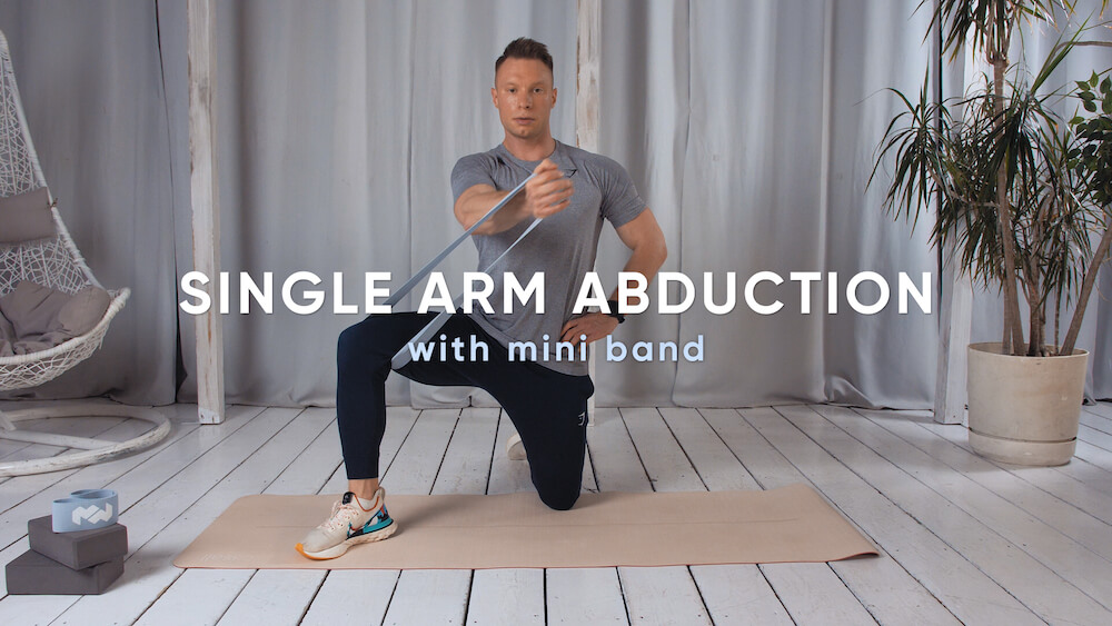 Single arm abduction with mini band