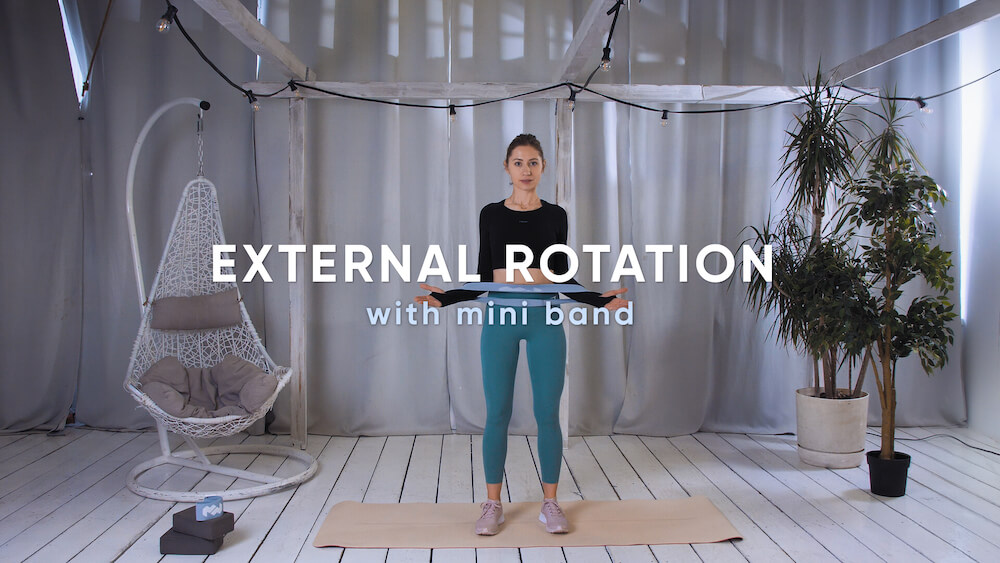External rotation with mini band