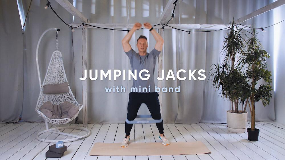 Jumping jacks with mini band