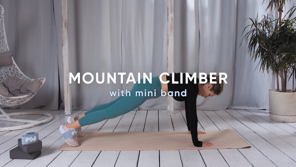 Mountain climber with mini band