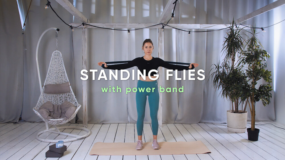 Standing flies with power band