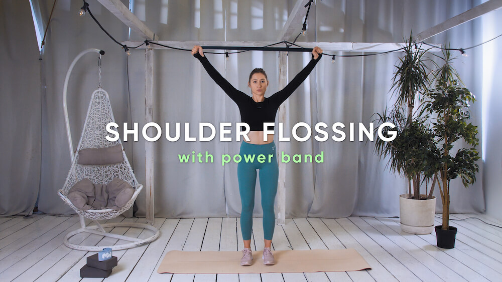 Shoulder flossing with power band