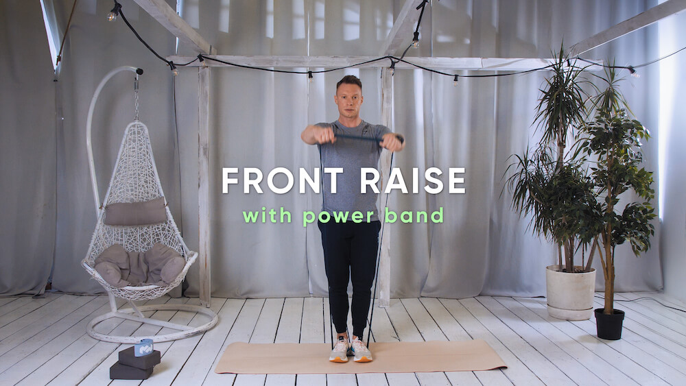 Front raise with power band