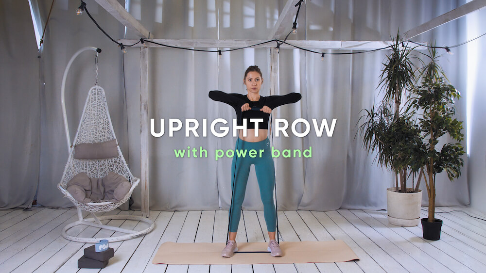 Upright row with power band