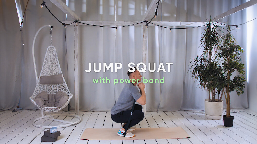 Jump squat with power band