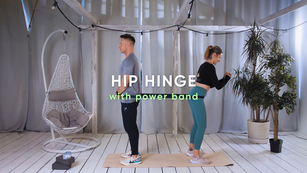 Hip hinge with power band