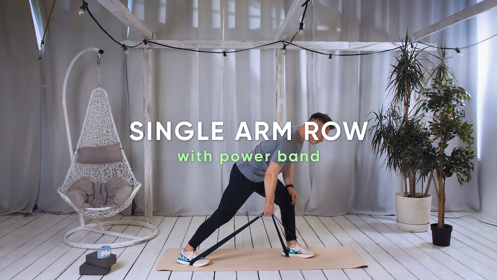 Single arm row with power band