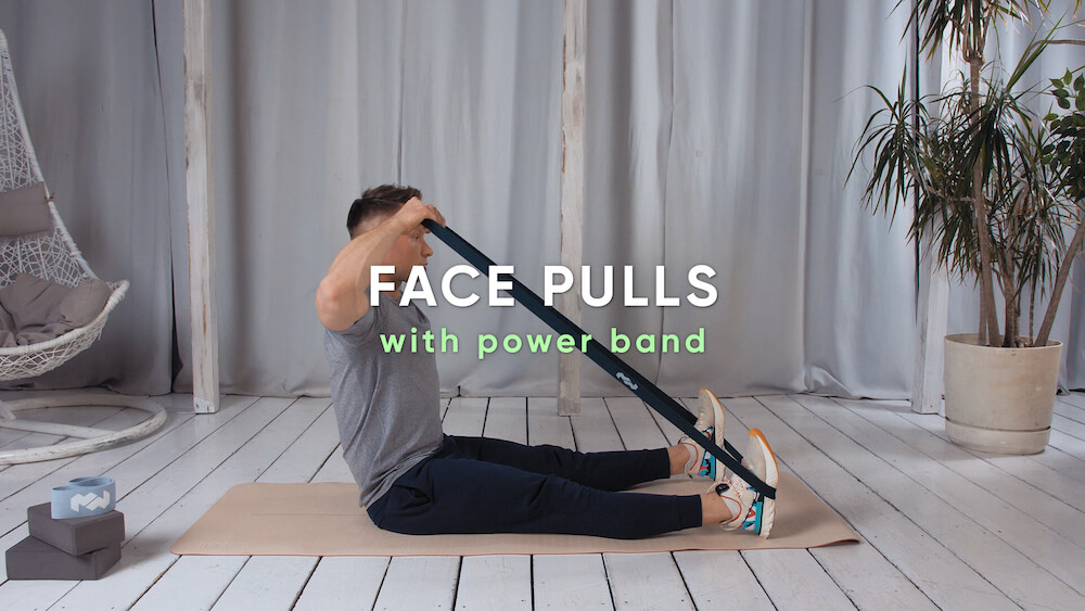 Face pulls with power band