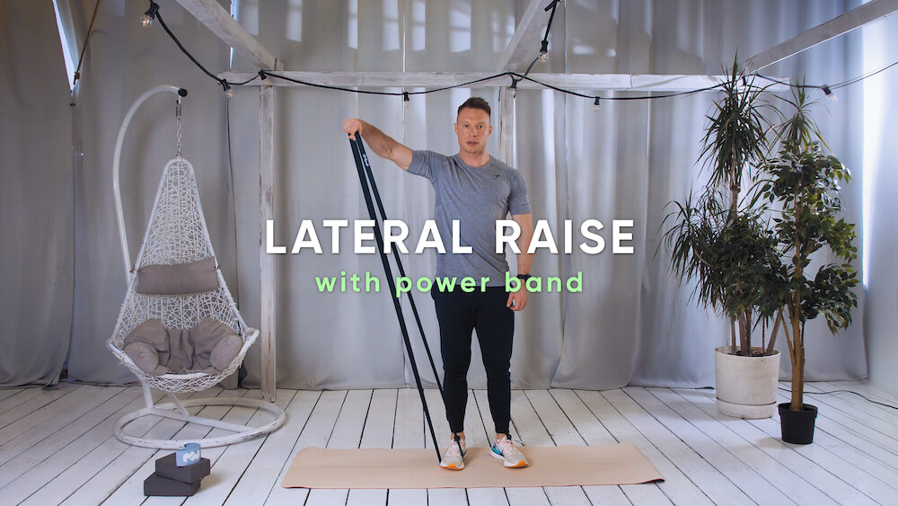 Lateral raise with power band