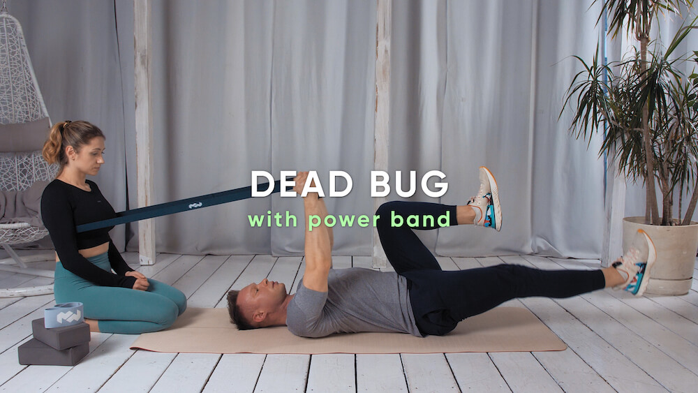 Dead bug with power band