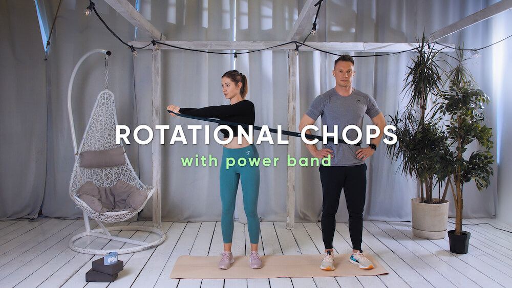 Rotational chops with power band