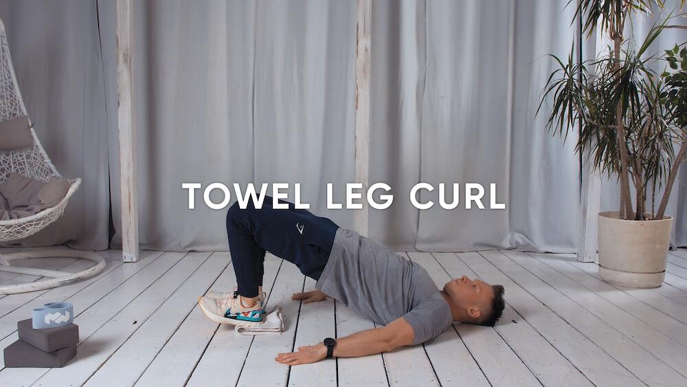 Towel leg curl