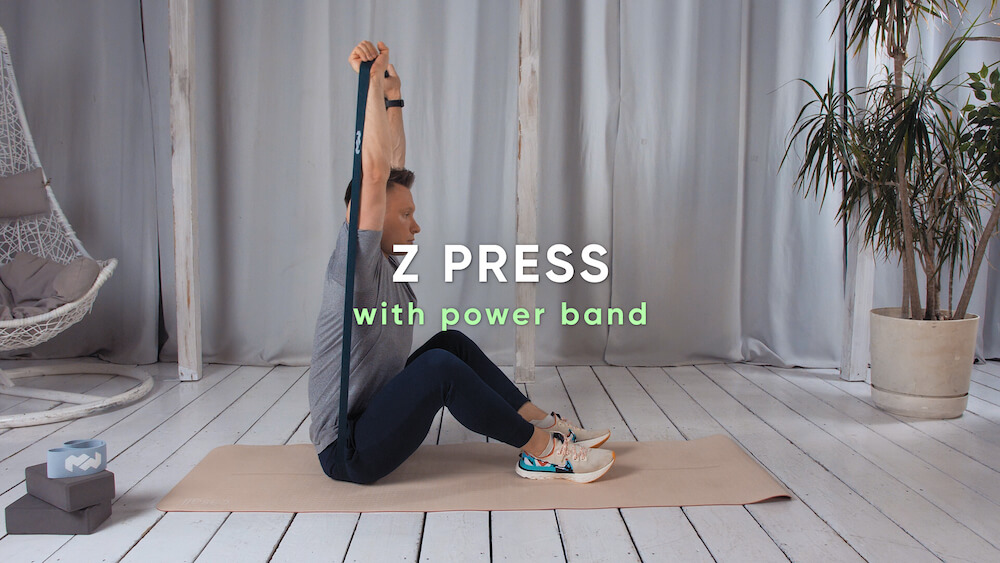 Z press with power band