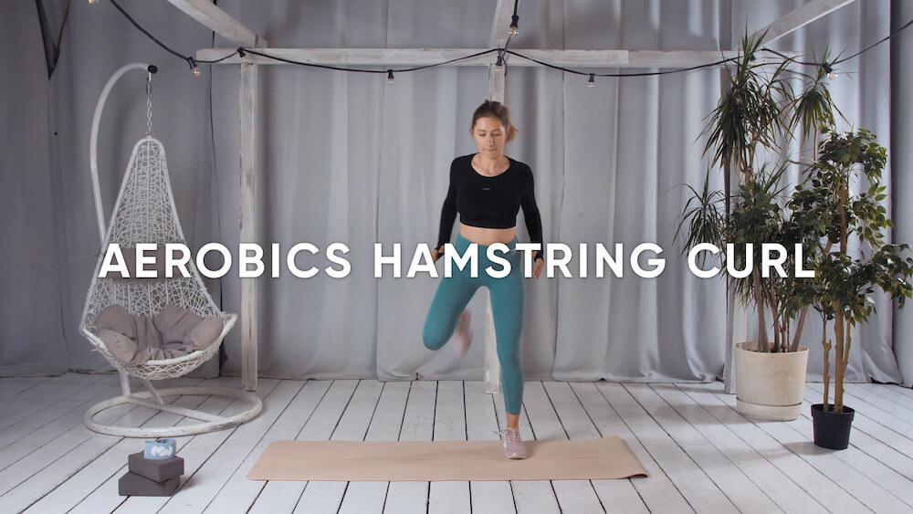 Aerobics hamstring curl