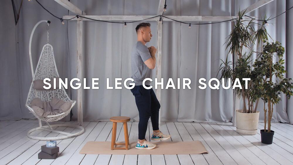 Single leg chair squat