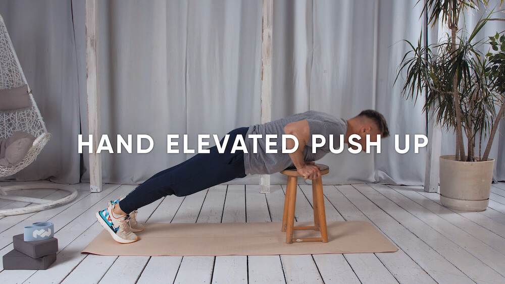 Hand elevated push up