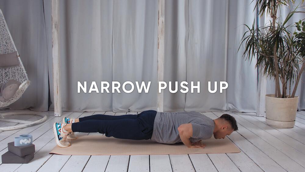 Narrow push up