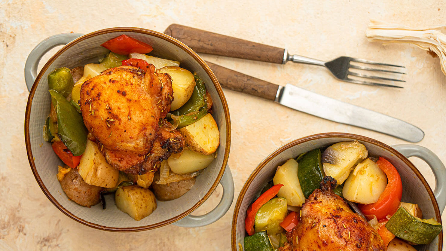 Pieczone udziki z kurczaka