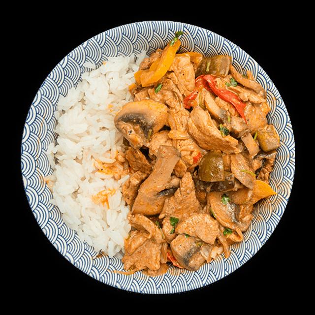 strogonow z ryżem