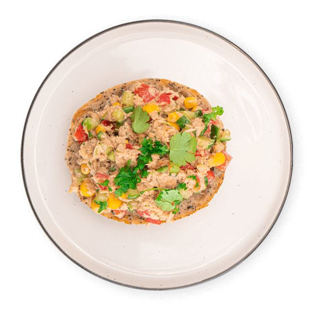 warzywna pasta z tuńczyka