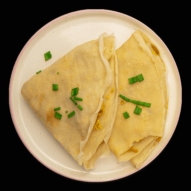 naleśniki z tofu i pieczarkami