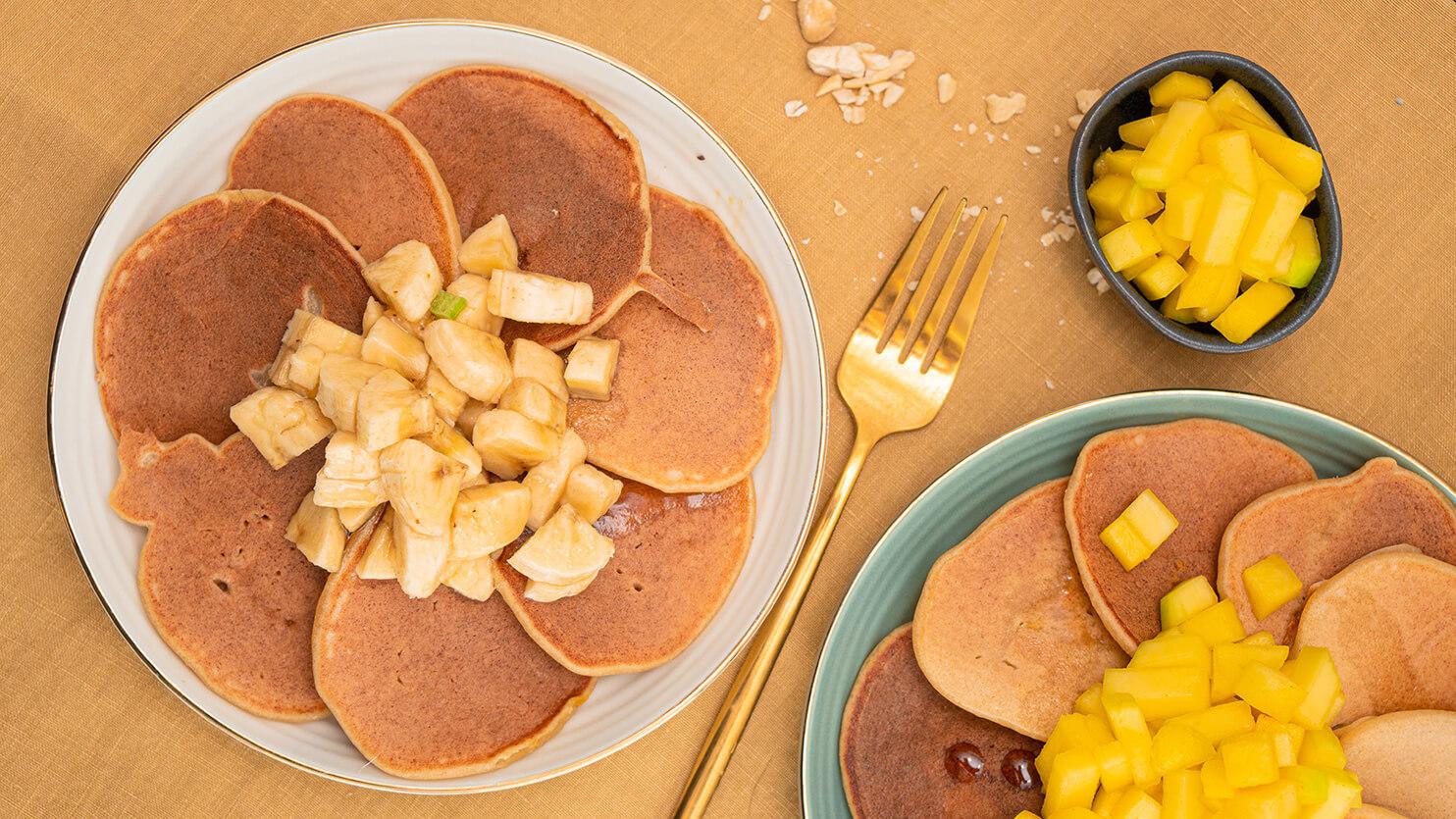 Pancakes z tofu i owocami