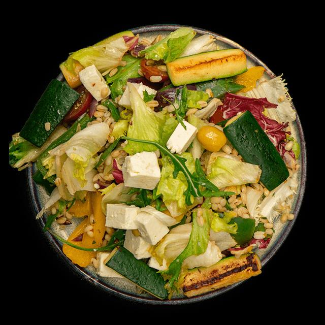 sałatka z pęczakiem i grillowanymi warzywami