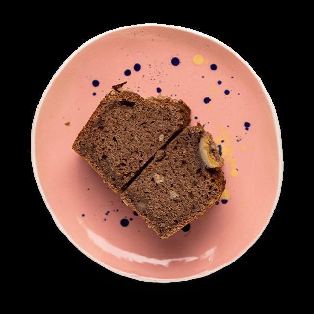 chlebek bananowy z kakao i orzechami